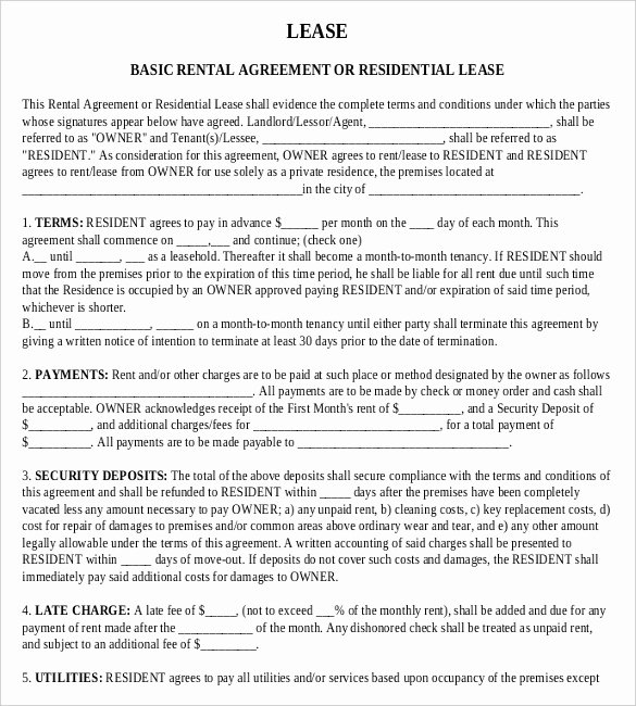 Rental Agreement Templates – 15 Free Word Pdf Documents