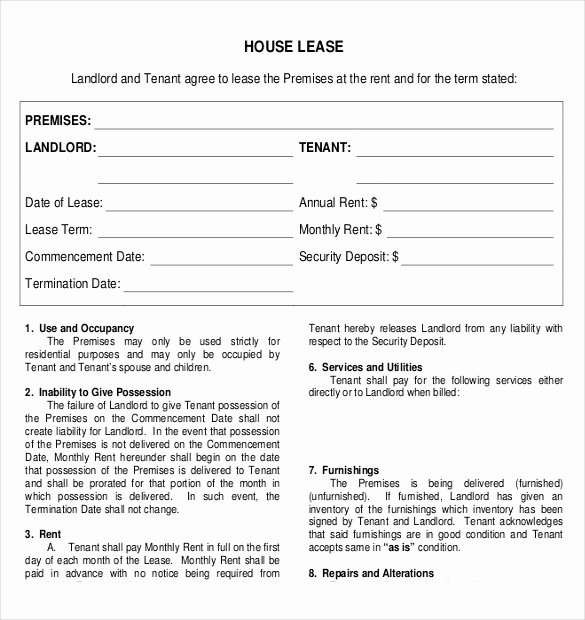 Rental Agreement Templates – 17 Free Word Pdf Documents