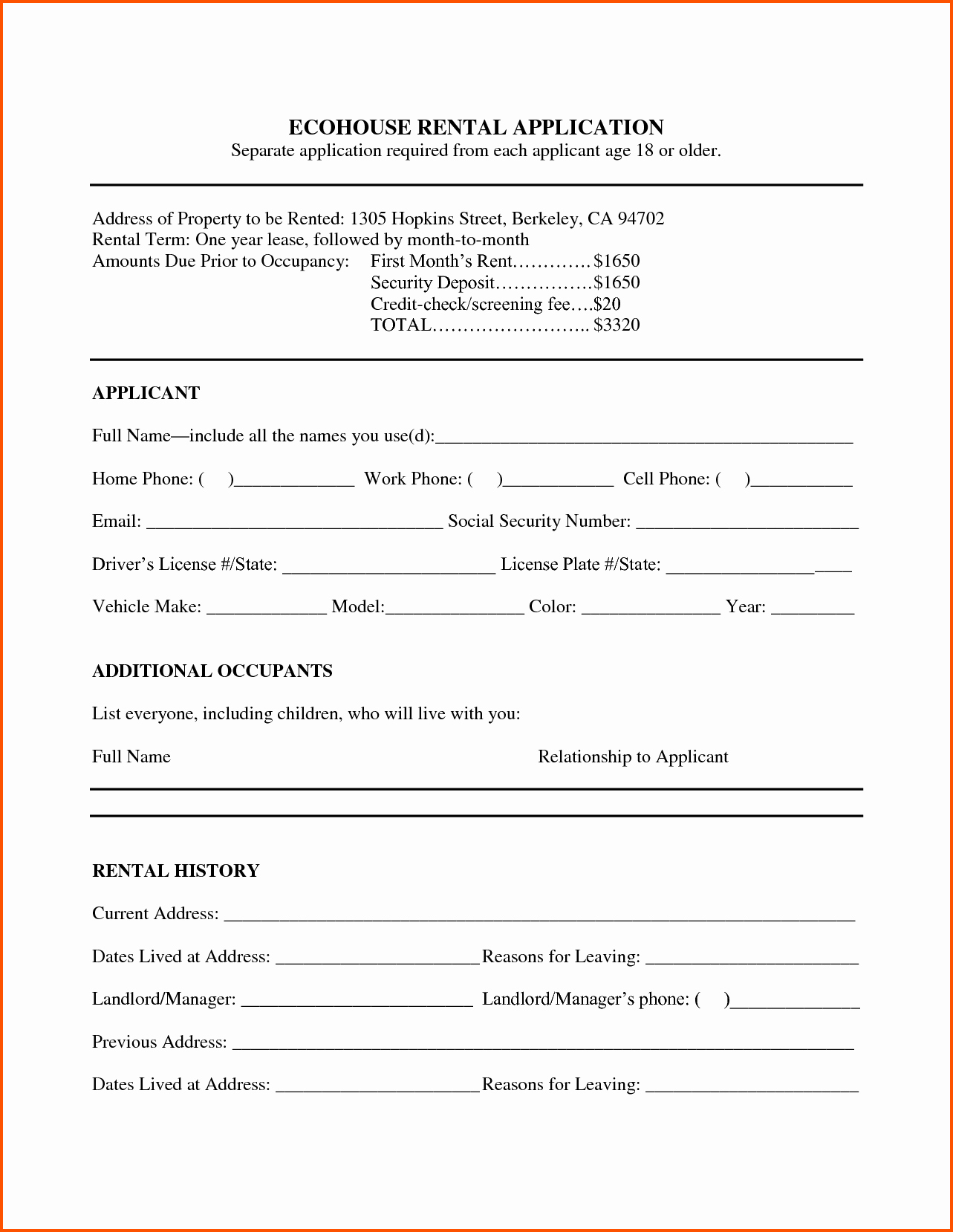 Rental Contract Template Word Portablegasgrillweber
