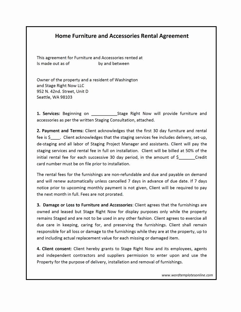 Rental Lease Agreement Template Microsoft Word Alreaload