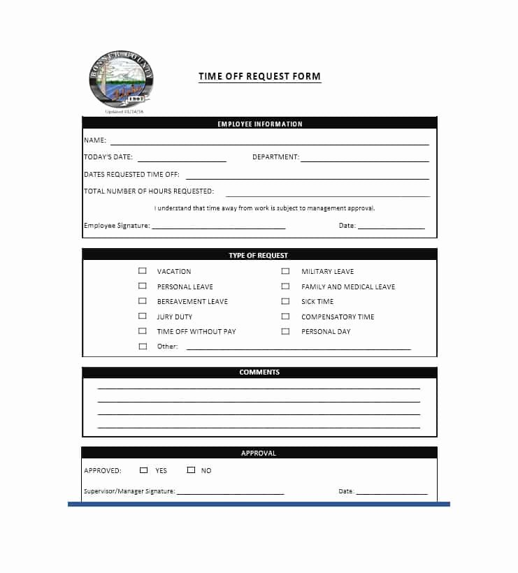Request for Time Off form Template Manqal Hellenes