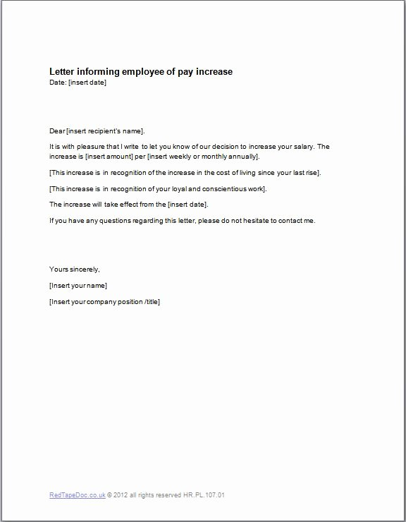 Request Salary Increase Letter Sample for Employees