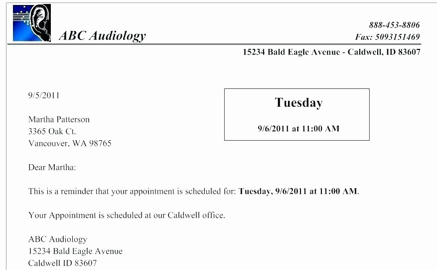 Reschedule Appointment Letter Samples Templates for Word