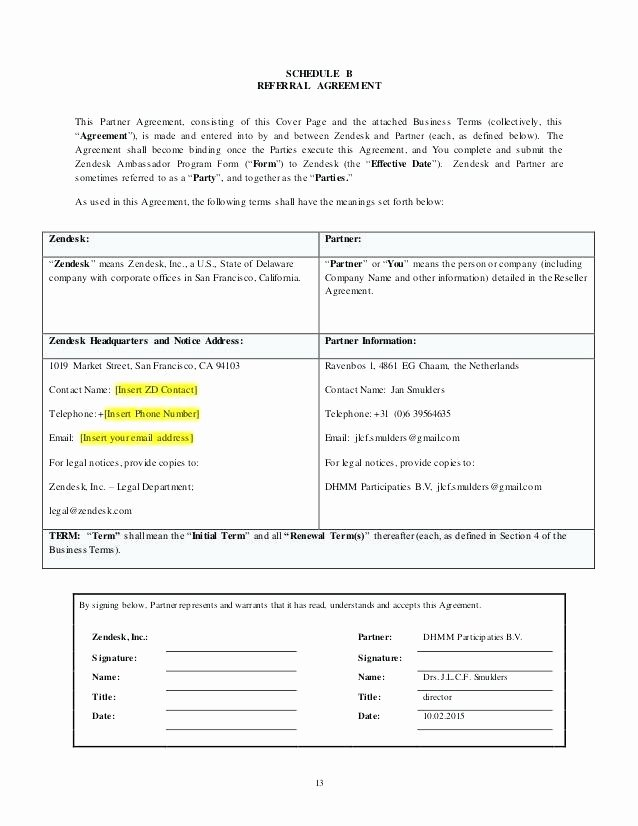 Reseller Agreement Template 9 Free Word Documents Download