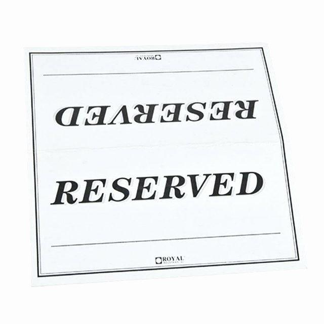 Reserved Card Template Elegant Script Printable Wedding