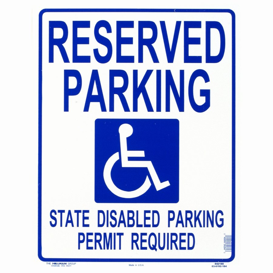 Reserved Parking Signs Template No Parking 18 X 12