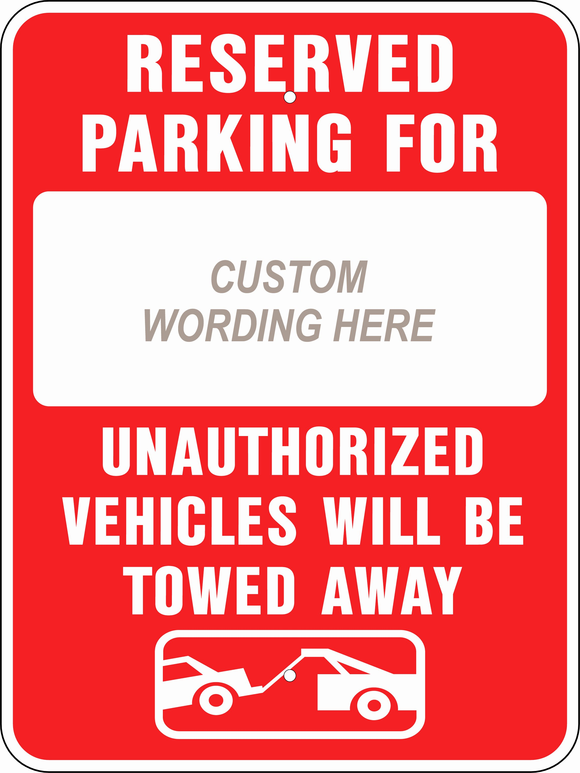 Reserved Parking Template Free Clipart