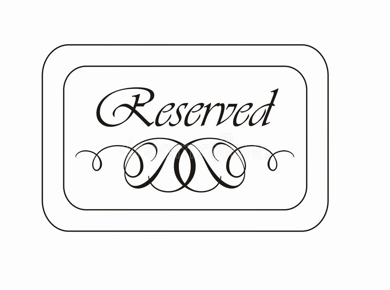 Reserved Sign Stock Illustration Illustration Of
