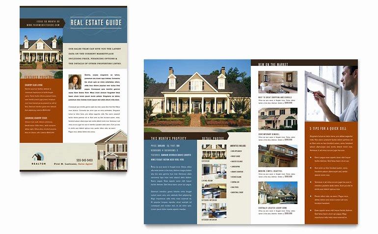 Residential Realtor Newsletter Template Word & Publisher