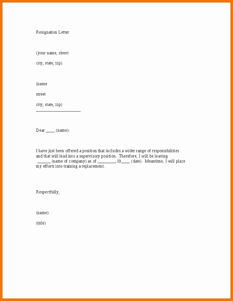 resignation letter sample 2016