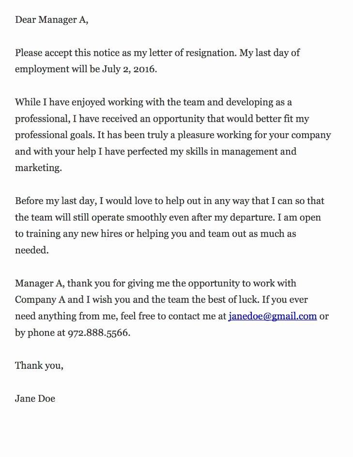 Resignation Letter Samples Download Pdf Doc format