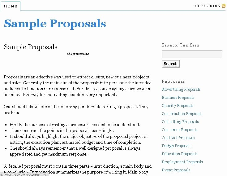Resource to Write Proposals with Free Sample Proposal