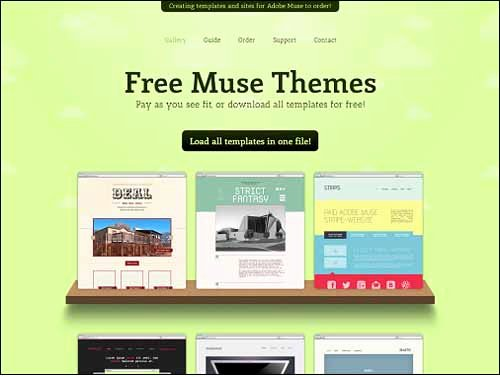 Responsive Adobe Muse Templates & themes