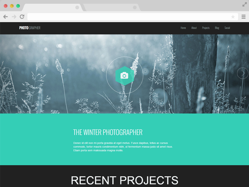 Responsive E Page Graphy Website Template
