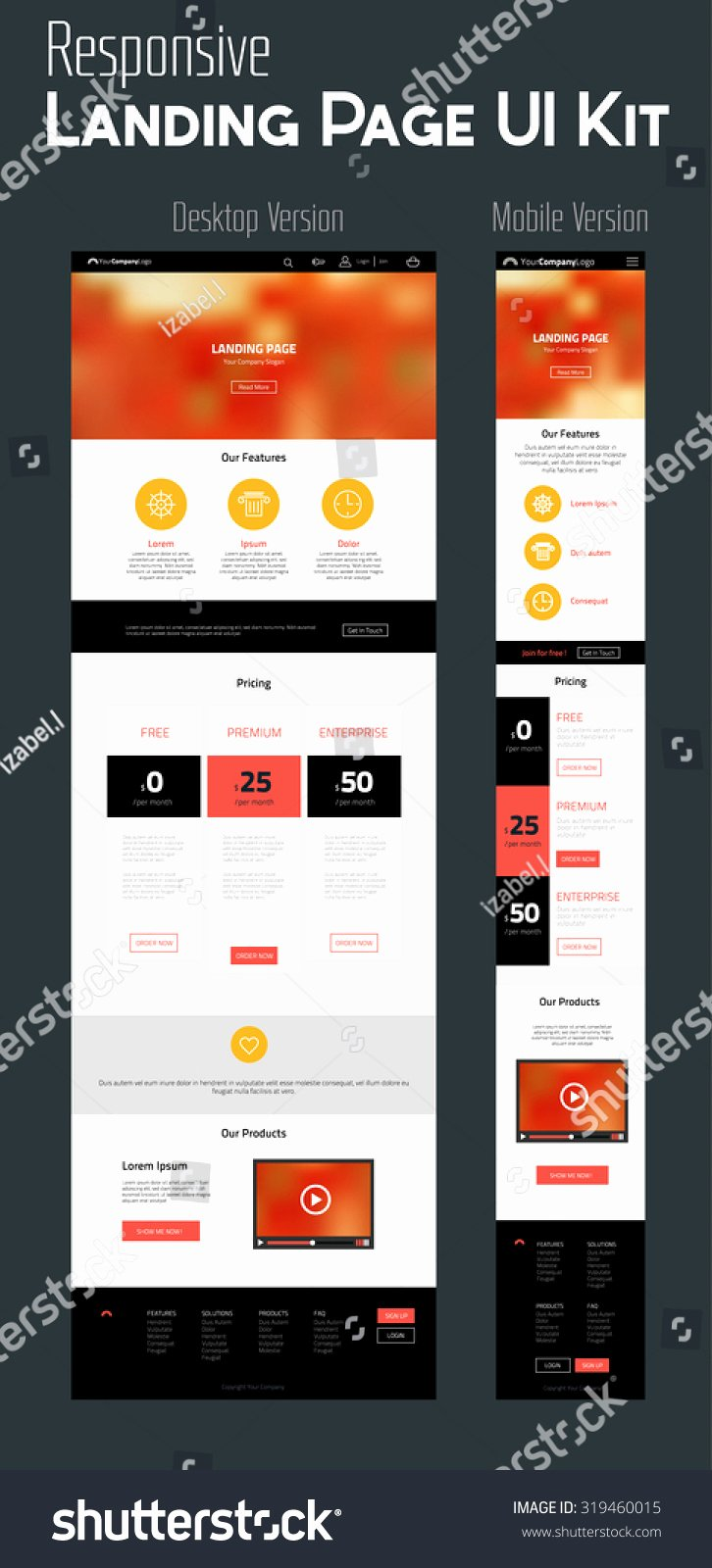 Responsive Landing Page E Page Website Template In