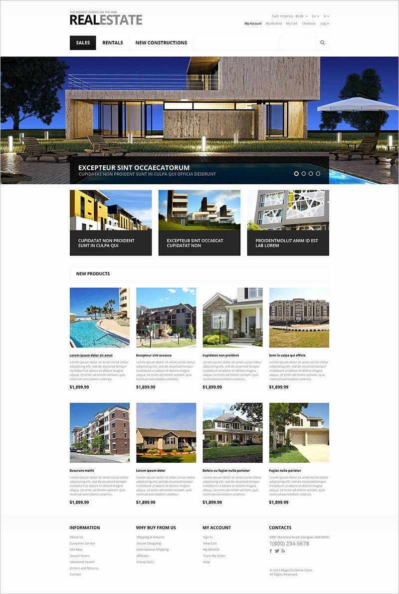 Responsive Magento Real Estate Templates Free & Premium themes