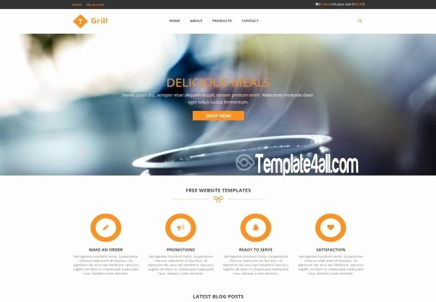 Responsive Restaurant Css Template Download
