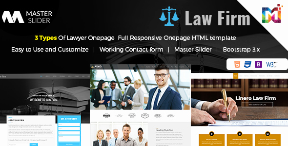 Responsive Website Template Law Firm E Page by