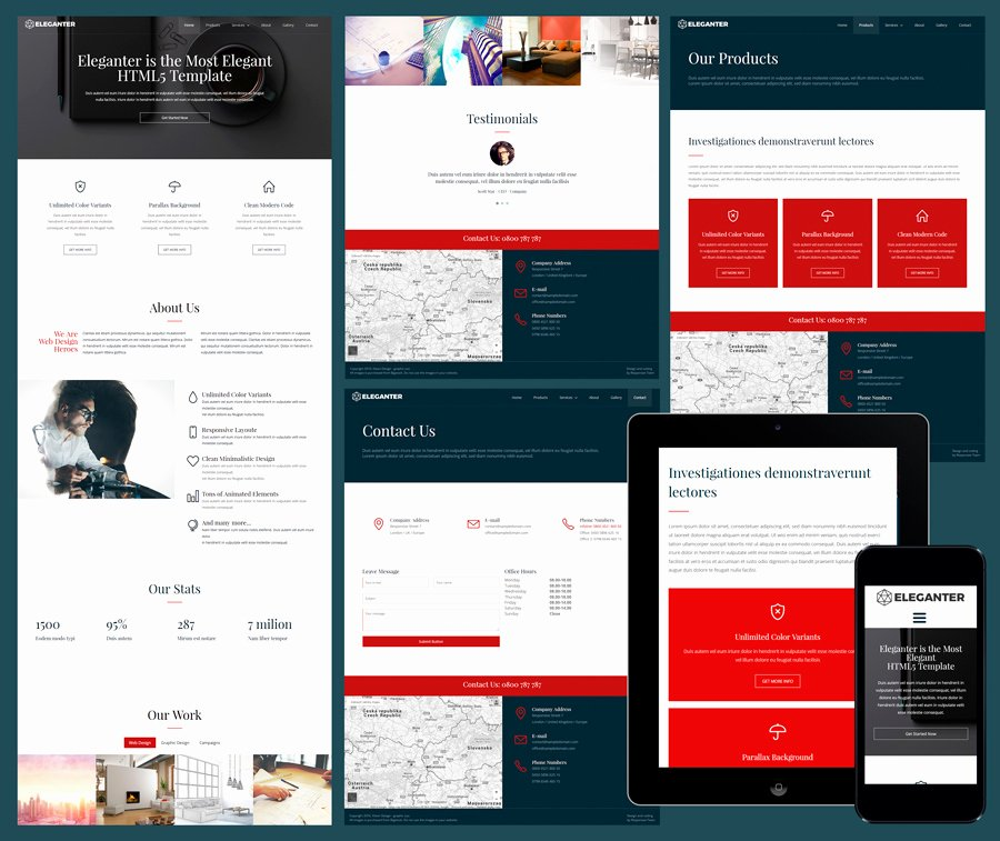 Responsive Website Templates Free Download for Business