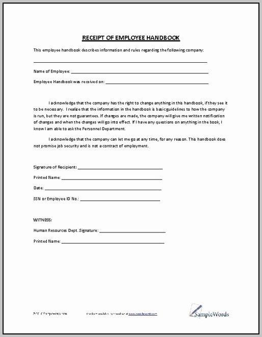 restaurant employee handbook template free 8915