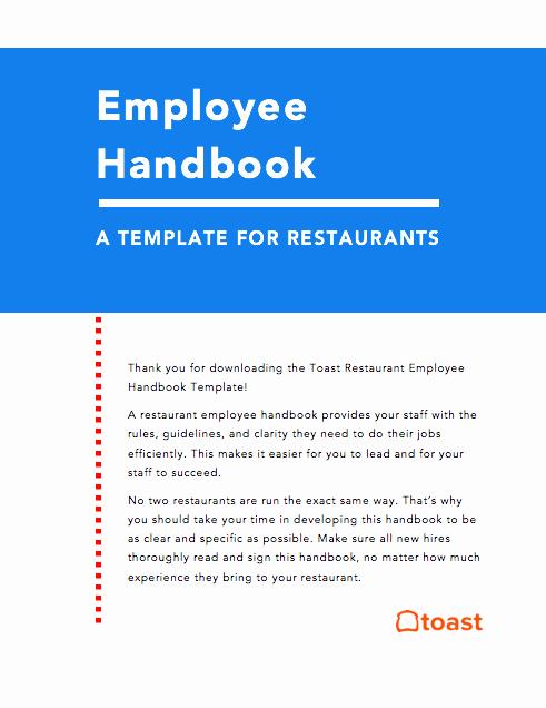 Restaurant Employee Handbook Template [free]