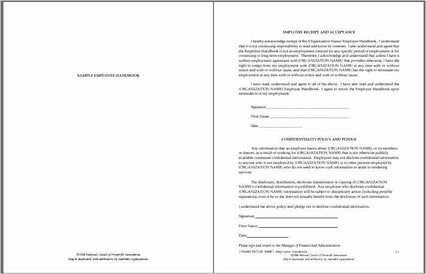 Restaurant Employee Handbook Template New Sample Manager