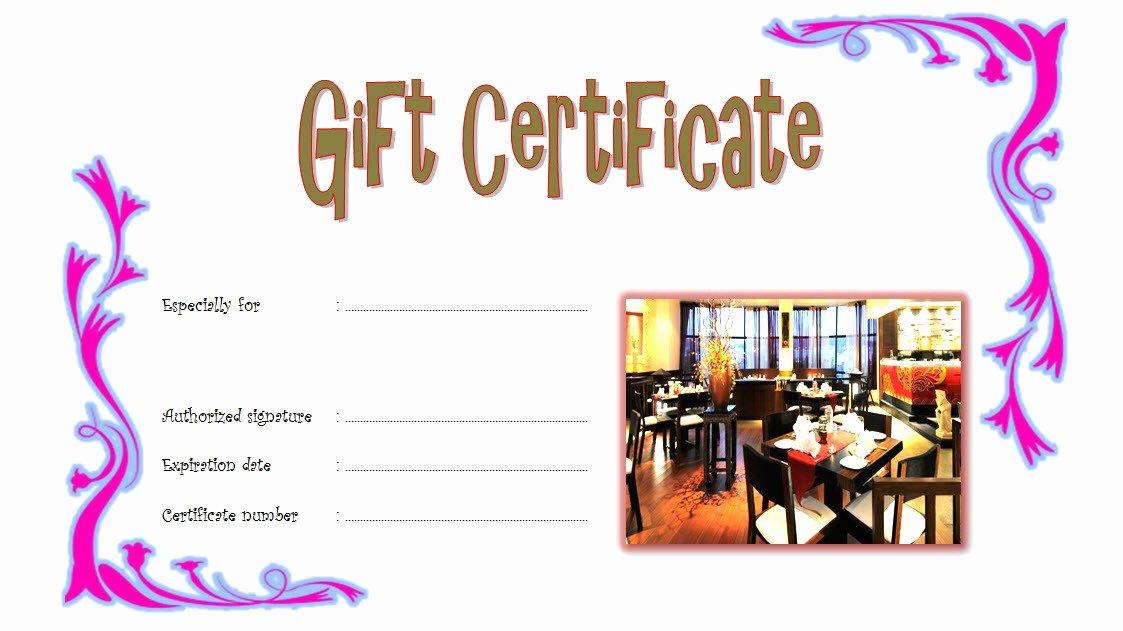 Restaurant Gift Certificate 5 – Best 10 Templates