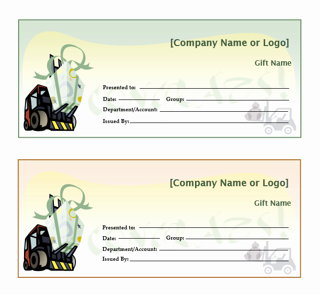Restaurant Gift Certificate Template Microsoft Word Gift