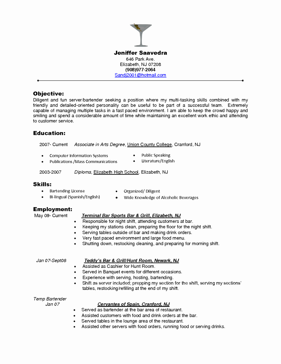 Restaurant Hostess Resume Skills Air Catering Server Job