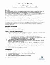 Job Responsibilities for Resume