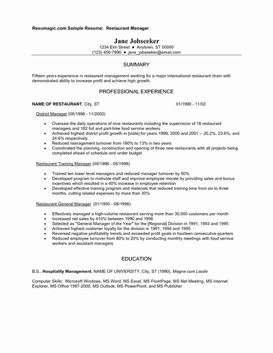 Restaurant Manager Fast Food Workers and Resume On Pinterest