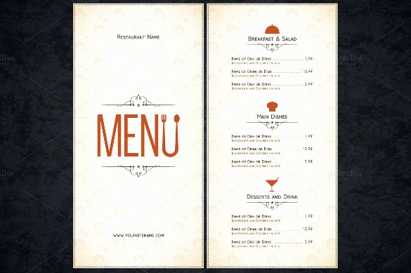 Restaurant Menu Template 53 Free Psd Ai Vector Eps