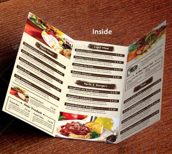 Restaurant Menu Template 53 Free Psd Ai Vector Eps