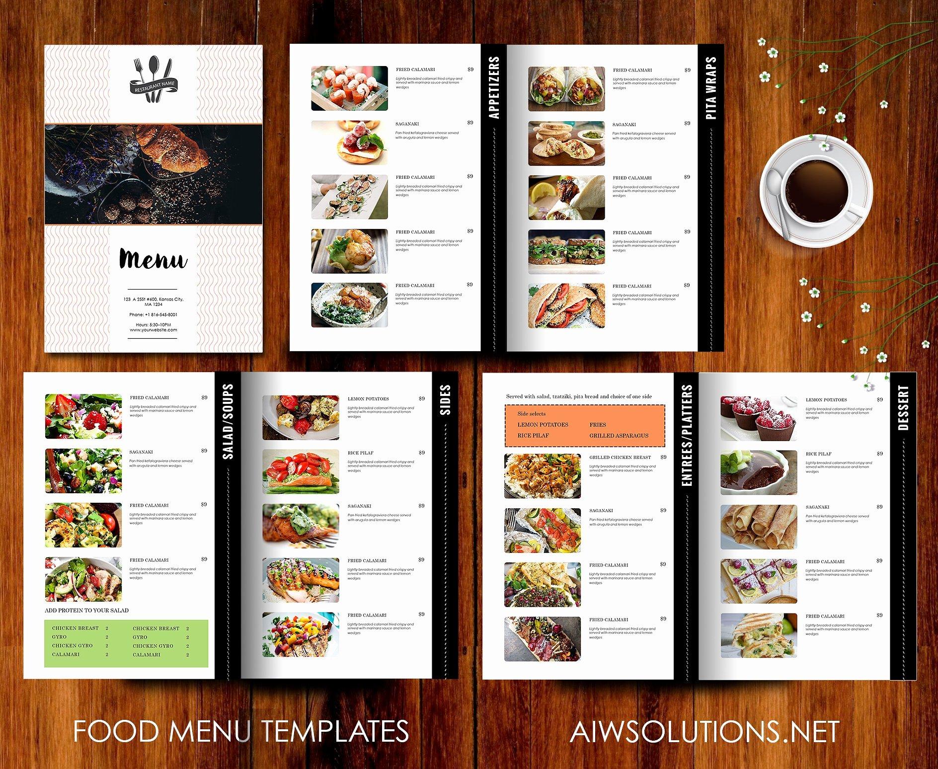 Restaurant Menu Template Brochure Templates Creative