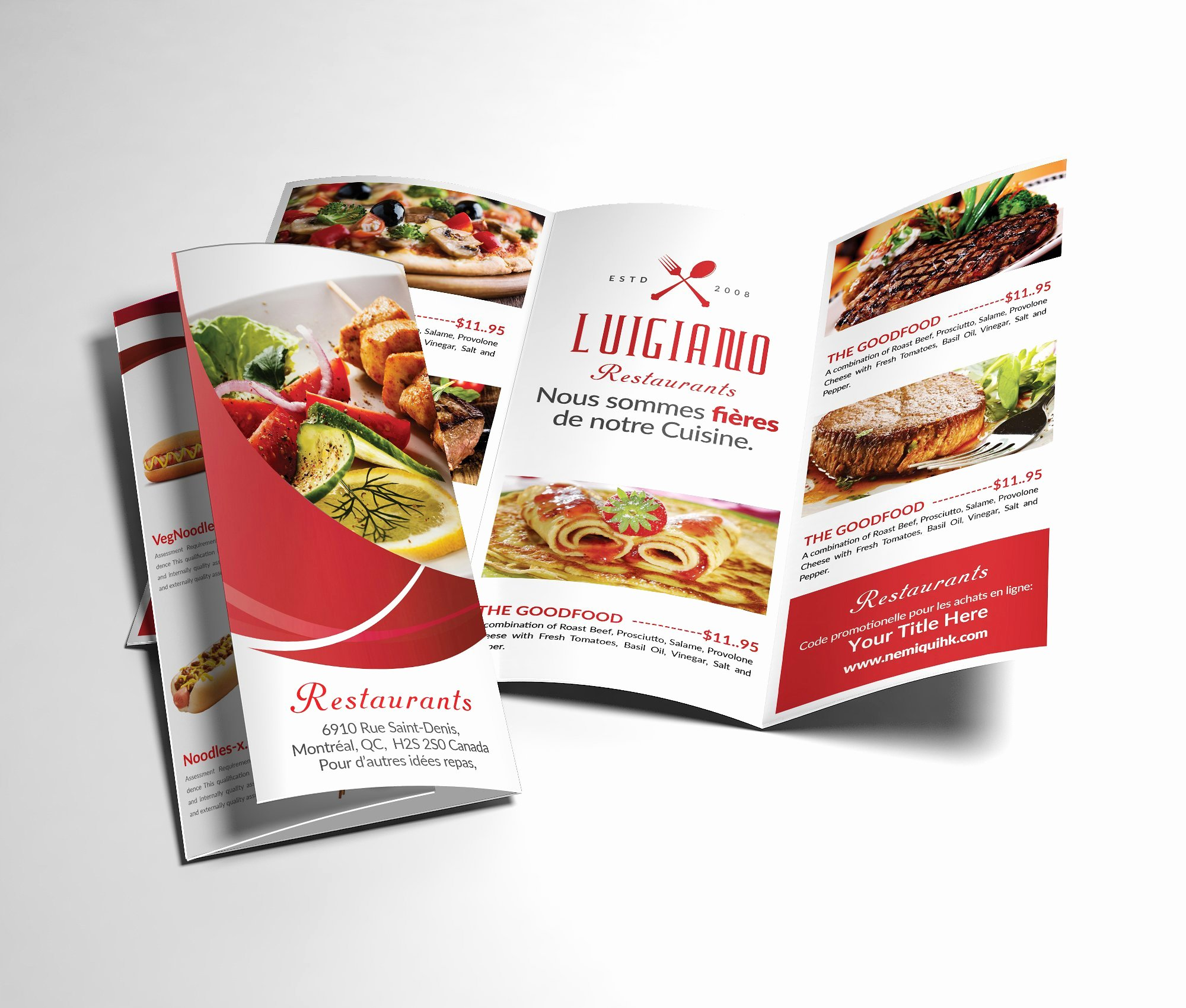 Restaurant Menu Tri Fold Brochure Brochure Templates