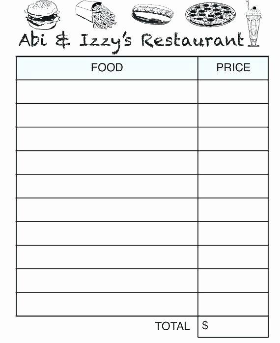 Restaurant order Template – Radioretail