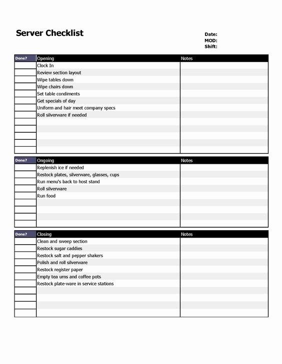 Restaurant Server Chart Bing Images