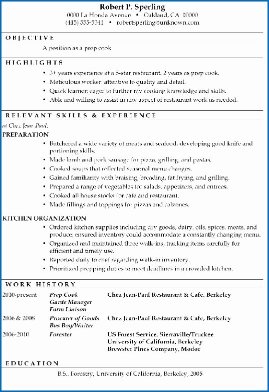 Restaurant Side Work Checklist Template Unique Job Duties