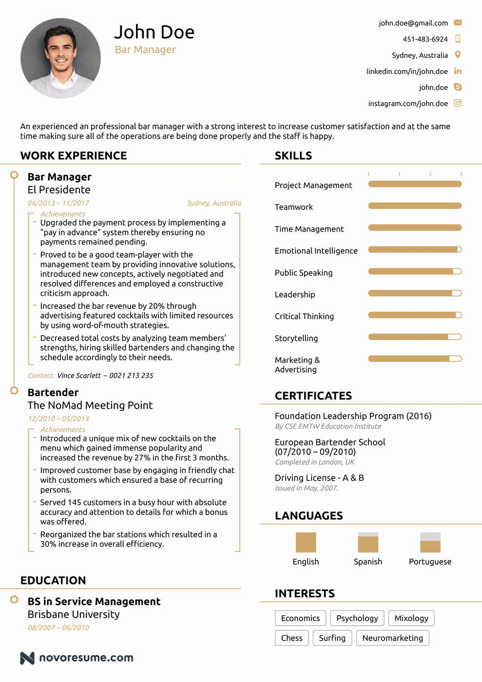 Resume 2018 Examples Incepagine Ex