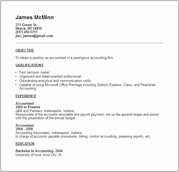 Resume Accounting Job Description for – orlandomoving