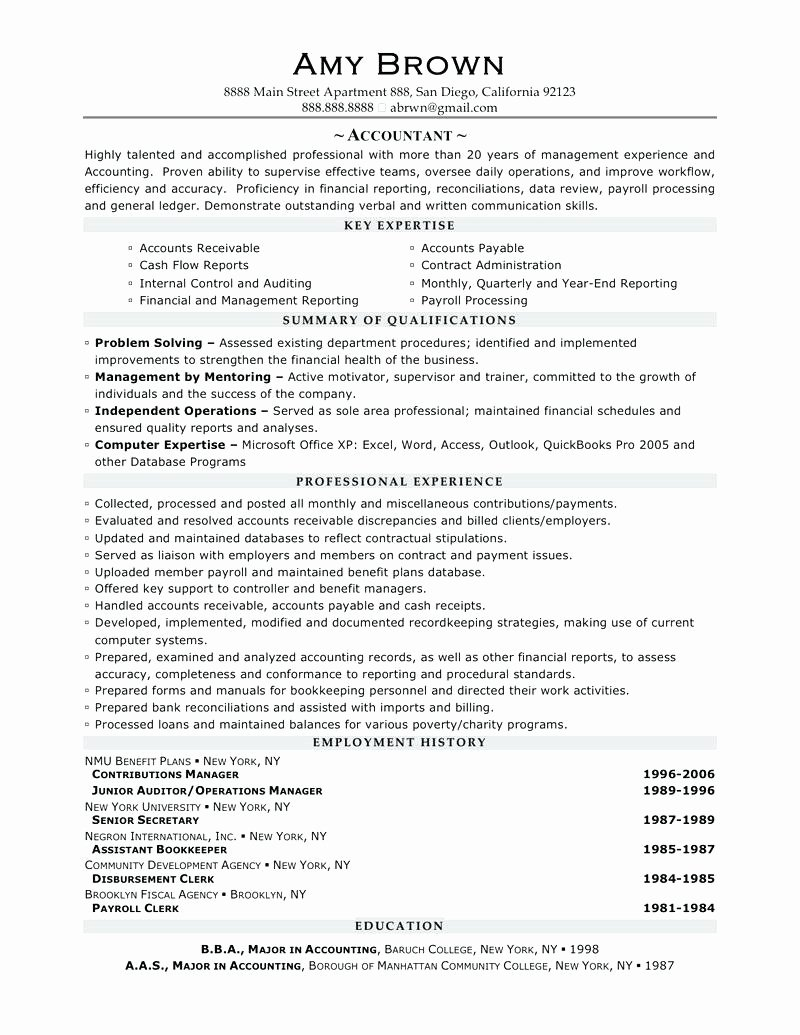 Resume Accounting Resume Objective