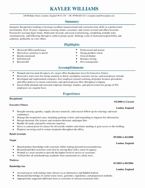 Resume Acierta New Sample Resume