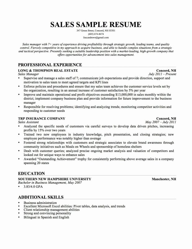 Resume Additional Skills Examples