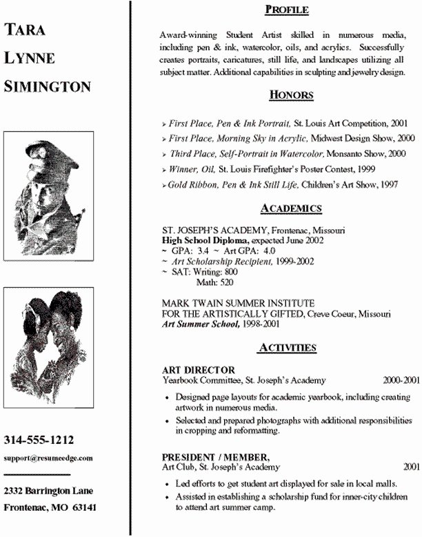 Resume after High School Best Resume Collection
