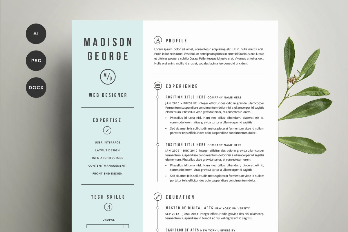 Resume & Cover Letter Template Resume Templates On