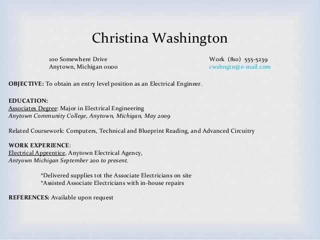 Resume associate Degree