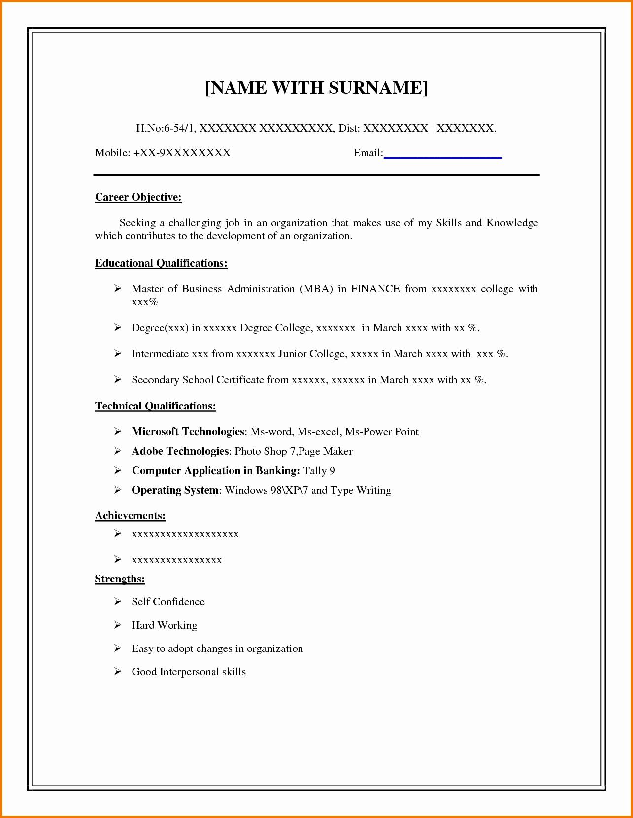 Resume Builder Free Line Printable