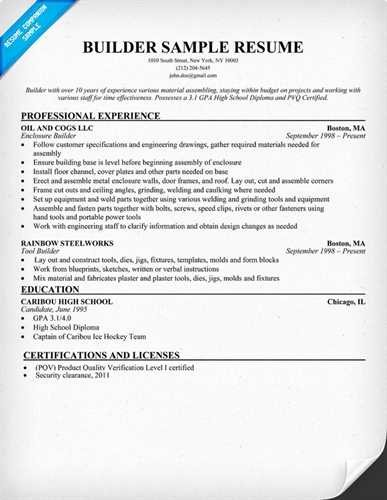 Resume Builder Free Resume Builder