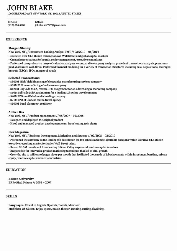 Resume Builder Make A Resume