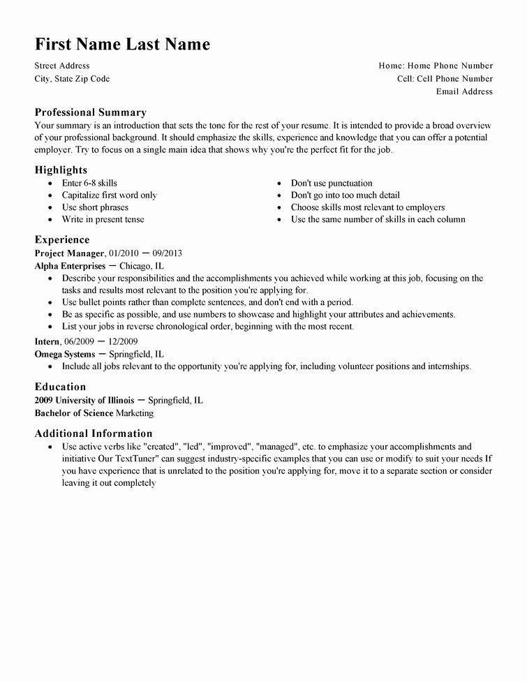 Resume Builder Templates 2017